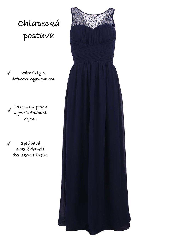 7e158e080c6c Plesové šaty podle typu postavy
